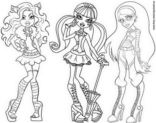 Dibujos de las Monster High